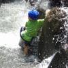 親水公園でクライミング